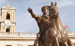 S P Q R-Marcus Aurelius-EU-Roma Imagens de Stock