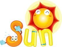 S para el sol ilustración del vector