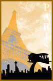 1920s Paris Poster Template Royalty Free Stock Photography