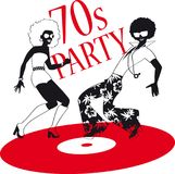 70s party clip-art Stock Photo
