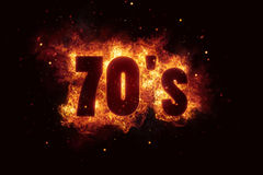 70s party disco background fire flames hot explosion Royalty Free Stock Photography