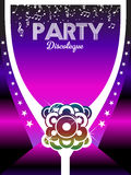 80s Party Poster Art Background. Royalty Free Stock Photography