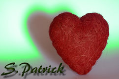 S Patrick. The love of St. Patrick day Stock Photos