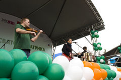 S. Patrick`s day in Moscow Stock Images