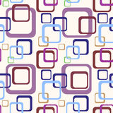 70s pattern. Detailed illustration of an abstract colorful 70s background pattern Stock Photo