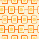 70s pattern. Illustration of a seamless retro pattern Royalty Free Stock Images