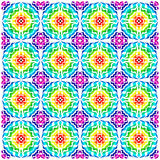 70s pattern. Retro 70s colorful pattern design Stock Image