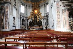 S.Peter Cathedral. The S.Peter Cathedral in the Vatican Royalty Free Stock Photography