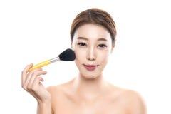 20s piękna młoda azjatykcia żeńska pracowniana fotografia - odosobniona Obraz Stock