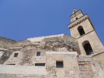 S.Pietro Barisano bell tower. Matera: view of S.Pietro Barisano bell tower Stock Image