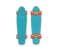70s plastic skateboard. Known within the industry as a short cruiser Royalty Free Stock Photos