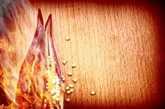 S/poivron de poivre en incendie Photos libres de droits
