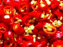 S/poivron rouges coupés Photographie stock