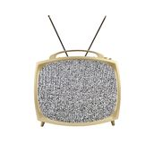 1950's Portable Television with Static Screen and Antennas Royalty Free Stock Photos