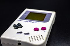 A 90s portable video game. stock photography