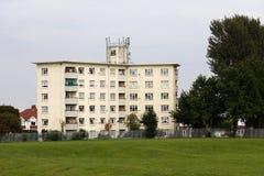 1950s postwar flats Birmingham, UK. 1950s postwar block of flats in Tile Cross, Birmingham, UK royalty free stock image