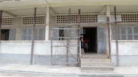S21 prison, Tuol Sleng genocide museum in phnom penh, cambodia stock video