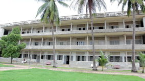 S21 prison, Tuol Sleng genocide museum in phnom penh, cambodia stock video footage