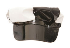 60s pvc black and white cap Stock Photography