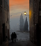 S Quirico street Royalty Free Stock Photo