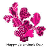 s różowy pressent valentine Zdjęcie Stock