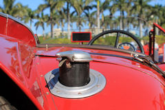 1930s racer gas cap. 1930s Italian sports car racer rear gas cap alfa romeo 8c 2300 Stock Photography