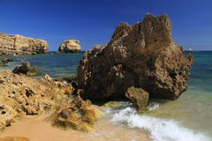 S. Rafael beach, Algarve Stock Photography