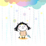 It's rain today Royalty Free Stock Images