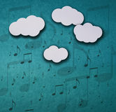 Its raining notes Royalty Free Stock Photography