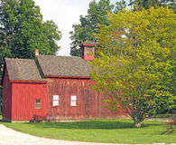 1800s red barn Berkshires MA Royalty Free Stock Photo