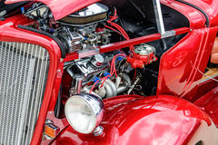 1940s red ford restored. 1940's ford classic sedan restored Stock Photo