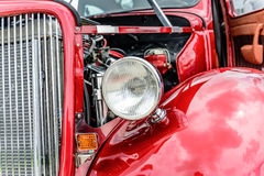 1940s red ford restored. 1940's ford classic sedan restored Royalty Free Stock Photography