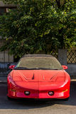 90`s red sport car Royalty Free Stock Images