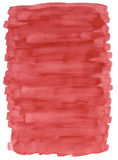 S_Red Watercolour Wash. Watercolour paint wash with white border, good for background or maybe a pastle coloured frame royalty free stock photos