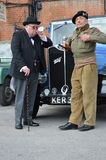 1940's Relived event at Brooklands. stock image