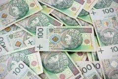 100's repetível PLN, zloty polonês Imagens de Stock