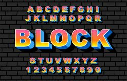 80 s retro alphabet font rainbow style, vintage. 80 s retro alphabet font. Rainbow Vintage Alphabet vector 80 s, 90 s Old style graphic poster set. Eighties vector illustration