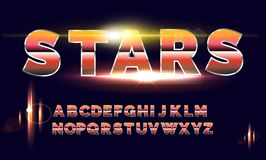 80`s retro alphabet font. Sci-fi future style. Vector typeface for flyers, headlines, posters etc Royalty Free Stock Image