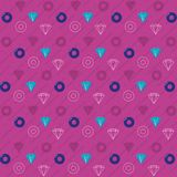 90s retro background pattern. Diamond and circles vector illustration graphic design Royalty Free Illustration