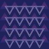 90s retro background pattern. With triangles vector illustration graphic design Vector Illustration