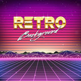 80s Retro Futurism Sci-Fi Background Royalty Free Stock Photo