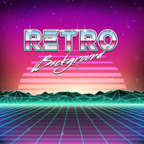 80s Retro Futurism Sci-Fi Background Royalty Free Stock Image