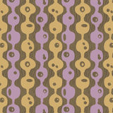 1950s Retro Mid-Century Seamless Pattern. Colourful seamless pattern inspired by retro 1950s design vector illustration