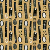 1950s Retro Mid-Century Seamless Pattern Royalty Free Stock Photography