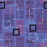 1950s Retro Mid-Century Seamless Pattern. Colourful seamless pattern inspired by retro 1950s design stock illustration