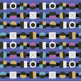 1950s Retro Mid-Century Seamless Pattern. Colourful seamless pattern inspired by retro 1950s design royalty free illustration