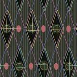 1950s Retro Mid-Century Seamless Pattern. Colourful seamless pattern inspired by retro 1950s design vector illustration