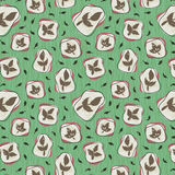 1950s Retro Mid-Century Seamless Pattern Stock Photos