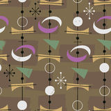 1950s Retro Mid-Century Seamless Pattern vector illustration