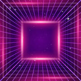 80s Retro Sci-Fi Background Stock Photos